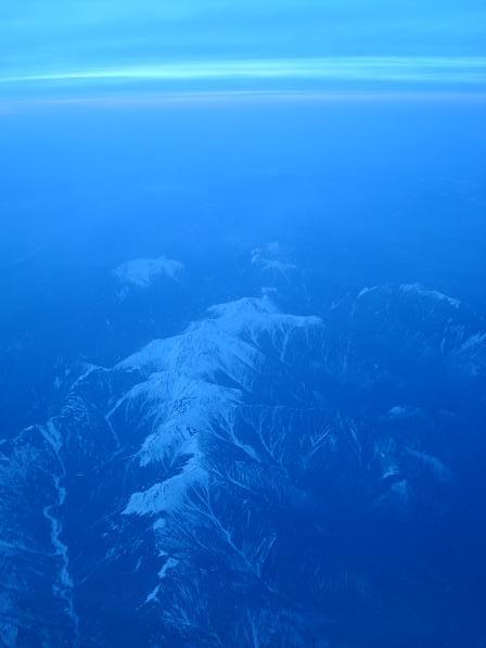 暮れなずむ山々