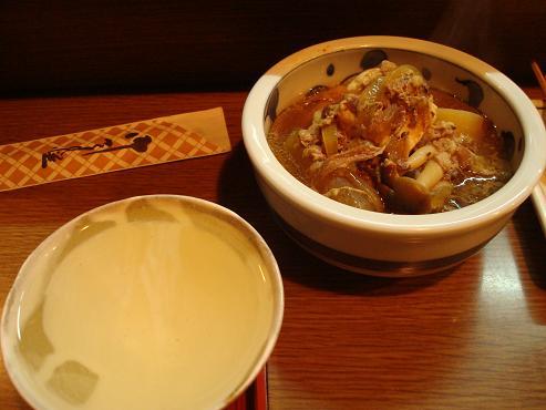 日本酒と煮込み